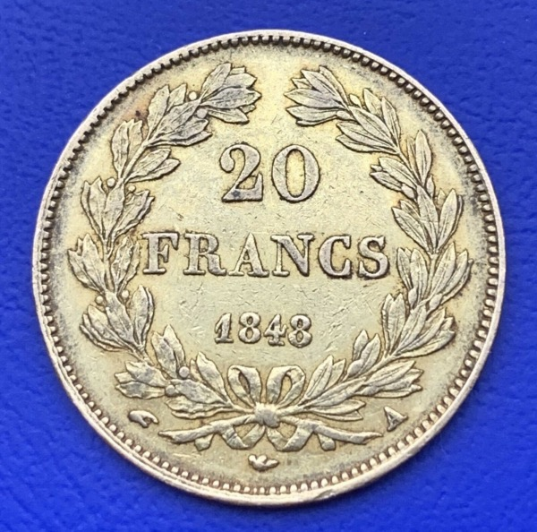 20 Francs or Louis Philippe Ier 1848 A