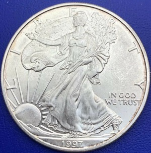 États-Unis USA One Dollar Silver Eagle 31,10g 1997
