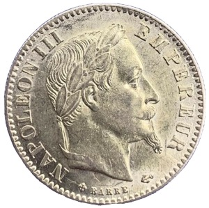 10 Francs or Napoléon III Tête Laurée 1866 Grand BB
